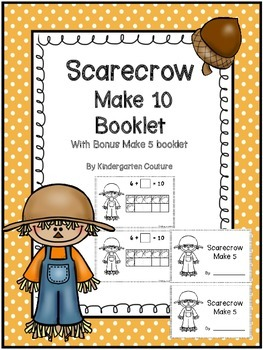 Scarecrow Make 10 Booklet with Bonus Make 5 Booklet Included
