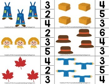 Scarecrow Math Centers Numbers 0-6