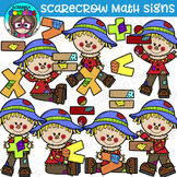 Scarecrow Math Signs Clipart {Scrappin Doodles Clipart}