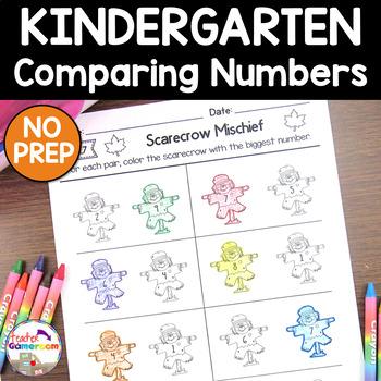 Scarecrow Mischief - Comparing Numbers - K.CC.7