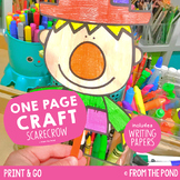 Scarecrow One Page Craft {Print & Go Craft + Writing Papers}