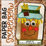 Scarecrow Paper Bag Craft --- Scarecrow Craft for Fall or