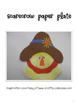 sc 1 st  Teachers Pay Teachers : scarecrow paper plate craft - pezcame.com