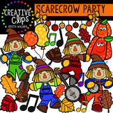 Scarecrow Party: Autumn Clipart {Creative Clips Clipart}