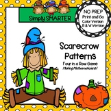 Scarecrow Patterns:  NO PREP Four in a Row Game