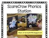 Scarecrow Phonics Center - short o / short u