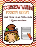 Scarecrow Pocket Chart Writing