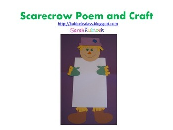 Scarecrow Poem and Craft