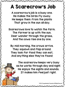 Scarecrow Poetry Freebie