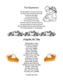 Scarecrow & Pumpkin Pie poems