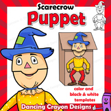 Puppet Scarecrow Craft Activity | Printable Paper Bag Puppet Template