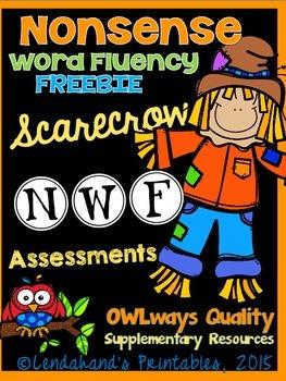 NWF - Nonsense Word Fluency Scarecrow FREEBIE from Ms. Lendahand