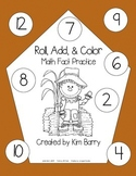 Roll, Add, and Color - Scarecrow Edition