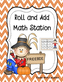Scarecrow Roll and Add {FREEBIE}