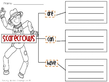 Scarecrow, Scarecrow What Do You See? {Craftivity and Writing Activity}