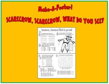 Scarecrow, Scarecrow What Do You See?  Make A Poster