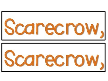 Scarecrow, Scarecrow what do you see? (pocketchart activity)