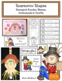 Scarecrow Shapes: Emergent Reader, Games, Worksheets & Craft