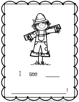 Scarecrow Shared Reading Pack   ~Book, Class Story Re-Write & Foldable Reader!