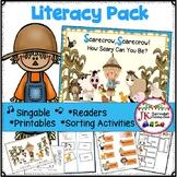 """Scarecrow, Scarecrow"" Singable with Literacy Activities"