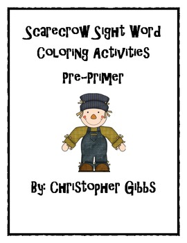 Scarecrow Sight Word Activities Pre-Primer