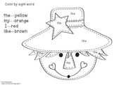 Scarecrow--Sight Word Color