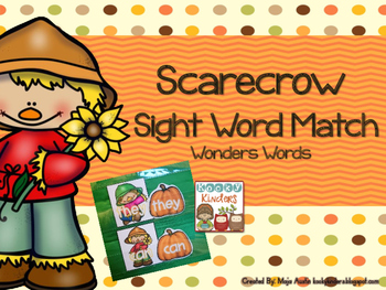 Scarecrow Sight Word Match Wonders Words