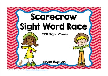 Scarecrow Sight Word Race