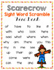 Scarecrow Sight Word Scramble - EDITABLE Word Work Center