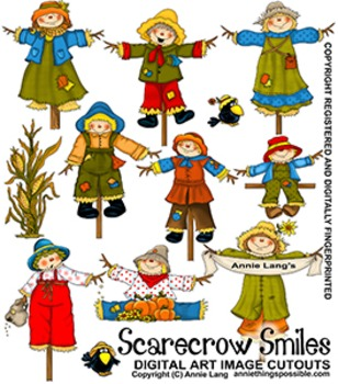 Scarecrow Smiles Character Clipart