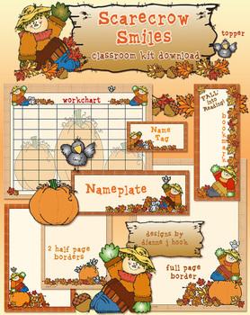 Scarecrow Smiles Classroom Borders Kit
