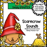 Scarecrow Sounds:  NO PREP Beginning Sound Board Game
