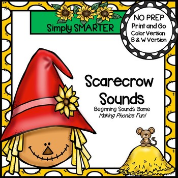 Scarecrow Sounds:  NO PREP Beginning Sound Board Game