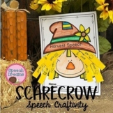 Scarecrow Fall Speech Therapy Craft {language and articulation craftivity}