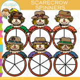 Scarecrow Spinners for Fall Clip Art