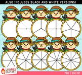 Scarecrow Spinners Fall Clip Art