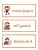 Scarecrow Syllables - Sorting and Making Words with the Si