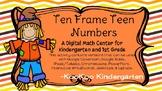 Scarecrow Ten Frame Teen Numbers-A Digital Math Centers