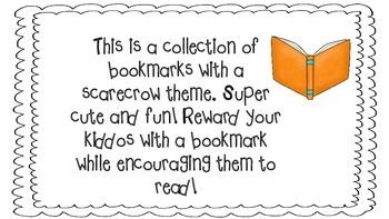 Scarecrow Theme Bookmarks