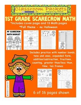 Scarecrow Themed 1st Grade Math Practice