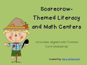 Scarecrow-Themed Literacy and Math Centers