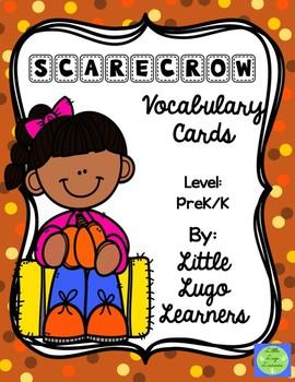 Fall Scarecrow Vocabulary Cards