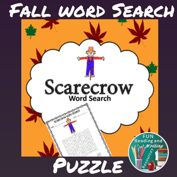 Fall Scarecrow Word Search