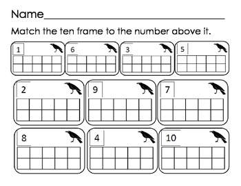 Scarecrow Write the Room 1-10, ten frames, number ID, tallies