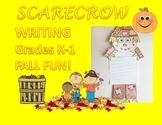 Scarecrow Writing October Autumn Fall Halloween Kindergart