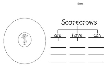 Scarecrow Writing (with circle and tree maps)
