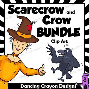 Crow Clip Art | Scarecrow Clip Art BUNDLE
