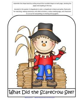Scarecrows Shapebook Emergent Reader plus Activities for Preschool