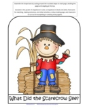 Scarecrows Shapebook Emergent Reader plus Activities for P