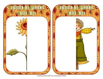 Symmetry Cards - Scarecrows and Sunflowers